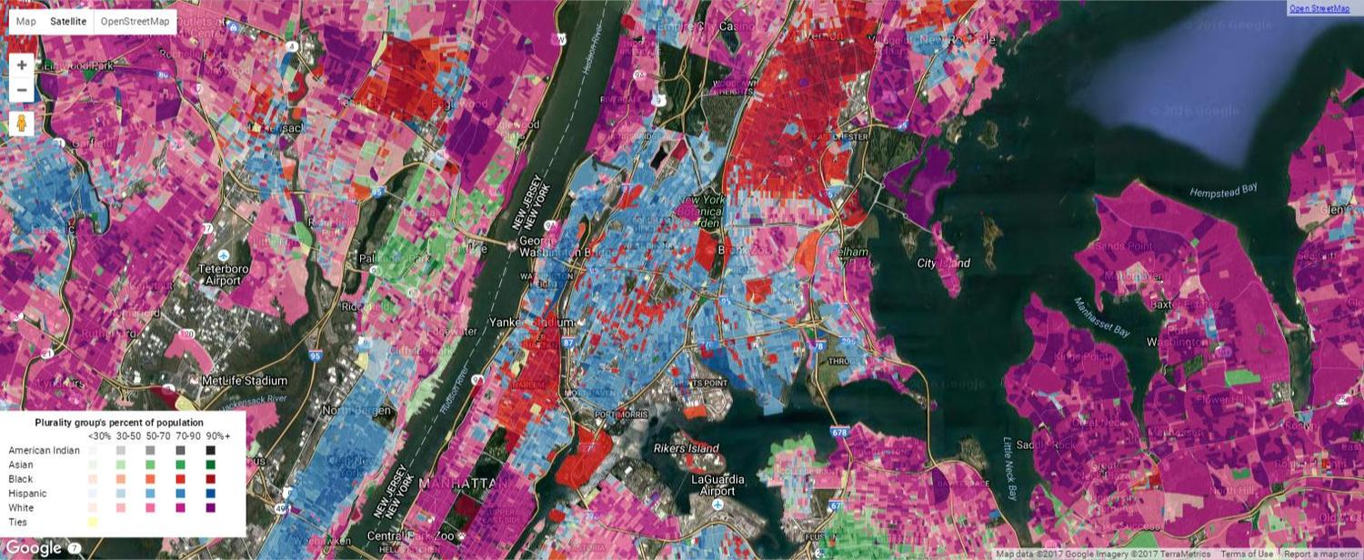 The Bronx Ethnic Density Map