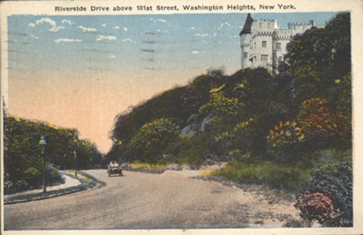 Postcard of Paterno Castle, as seen from Riverside Drive and West 181st Street, undated