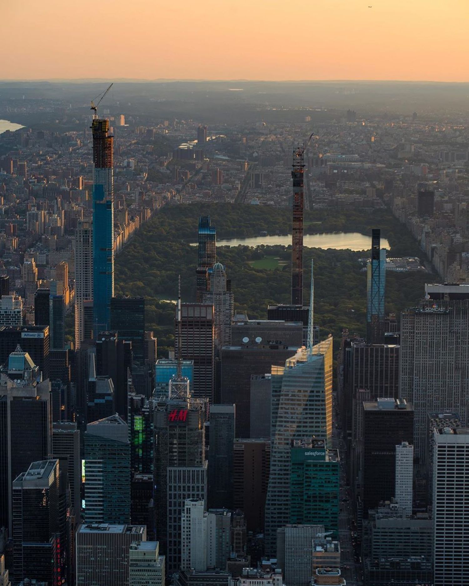 Sunrise over Midtown Manhattan and Central Park