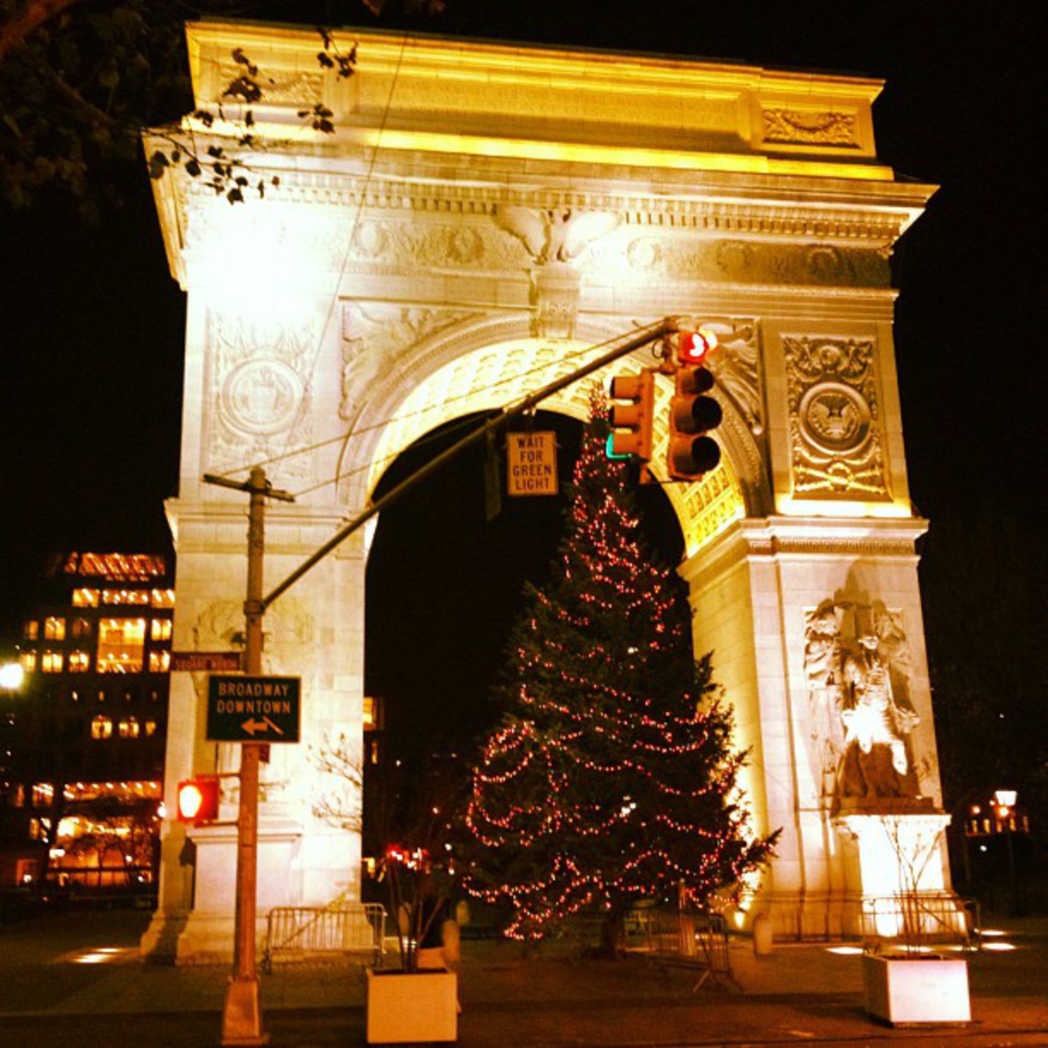 The 2011 Washington Square Park Christmas Tree