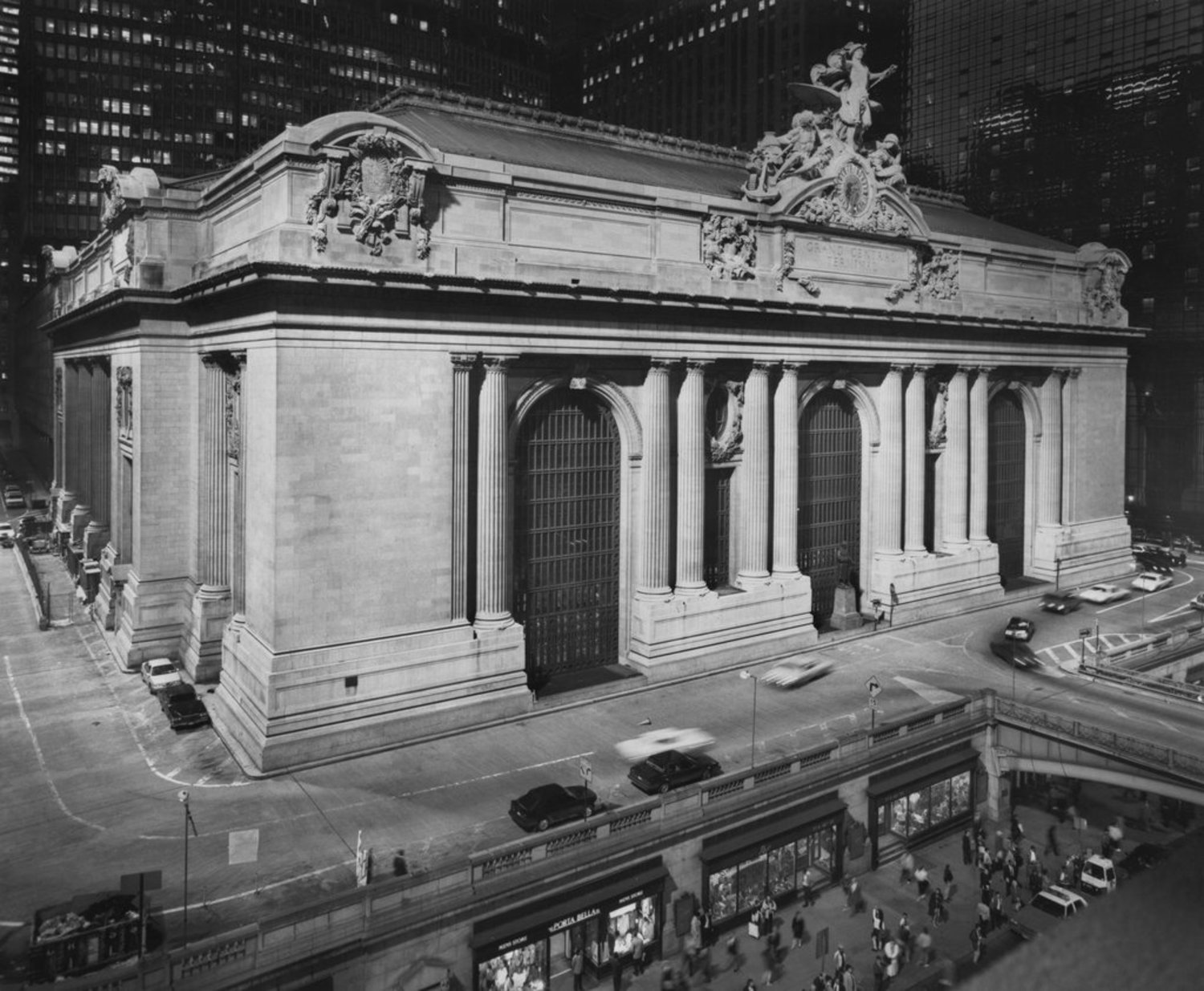 "March 28, 1991: ""For the Grand Central neighborhood, the lighting of the terminal is considered not only esthetic enhancement of its Beaux Arts ornamentation and sculpture,"" wrote The Times, ""but also a security device that will deter street crime."" And so, the fruits of a project that cost more than $3 million were unveiled at a ceremonial switch-flicking that included the actor Tony Randall."