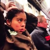 GIRL DYES HER HAIR ON THR SUBWAY