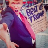Come #BeatUpTrump again in #UnionSquare this afternoon I'll be there within the hour! #Drumf fuck #PerformanceArt