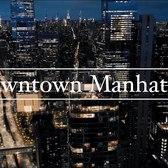 Downtown Manhattan Night Drone