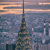 Chrysler Building, New York, New York. Photo via @bklyn_block #newyorkcity #newyork #nyc #viewingnyc #chryslerbuilding #sunrise