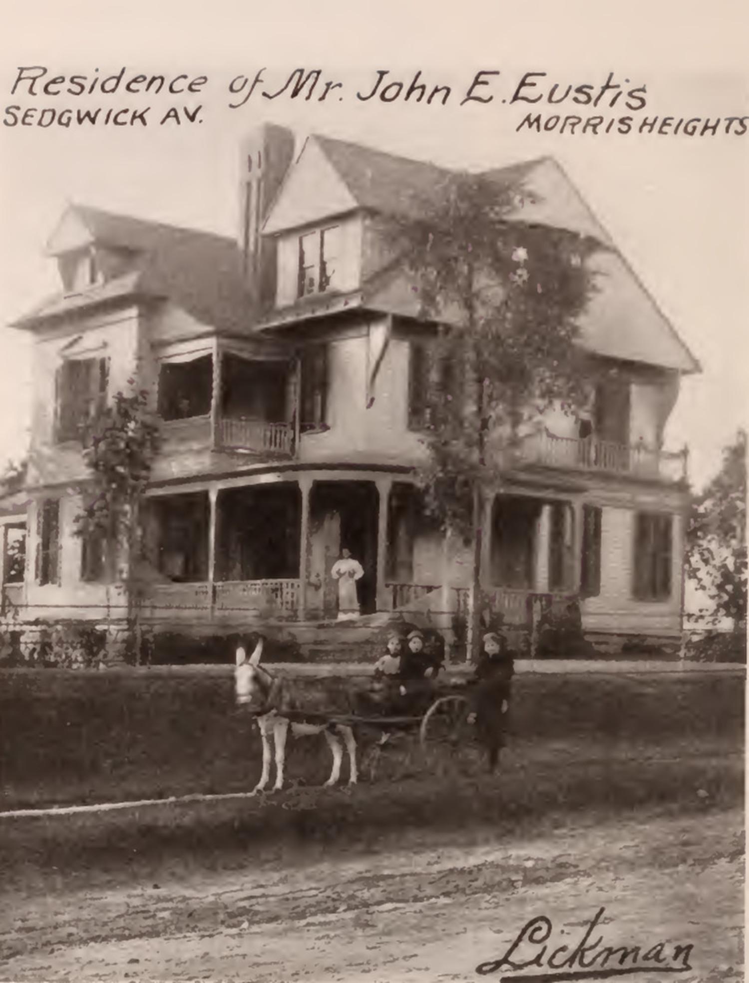 John Eustis residence Sedgwick Avenue Morris Heights Bronx 1897