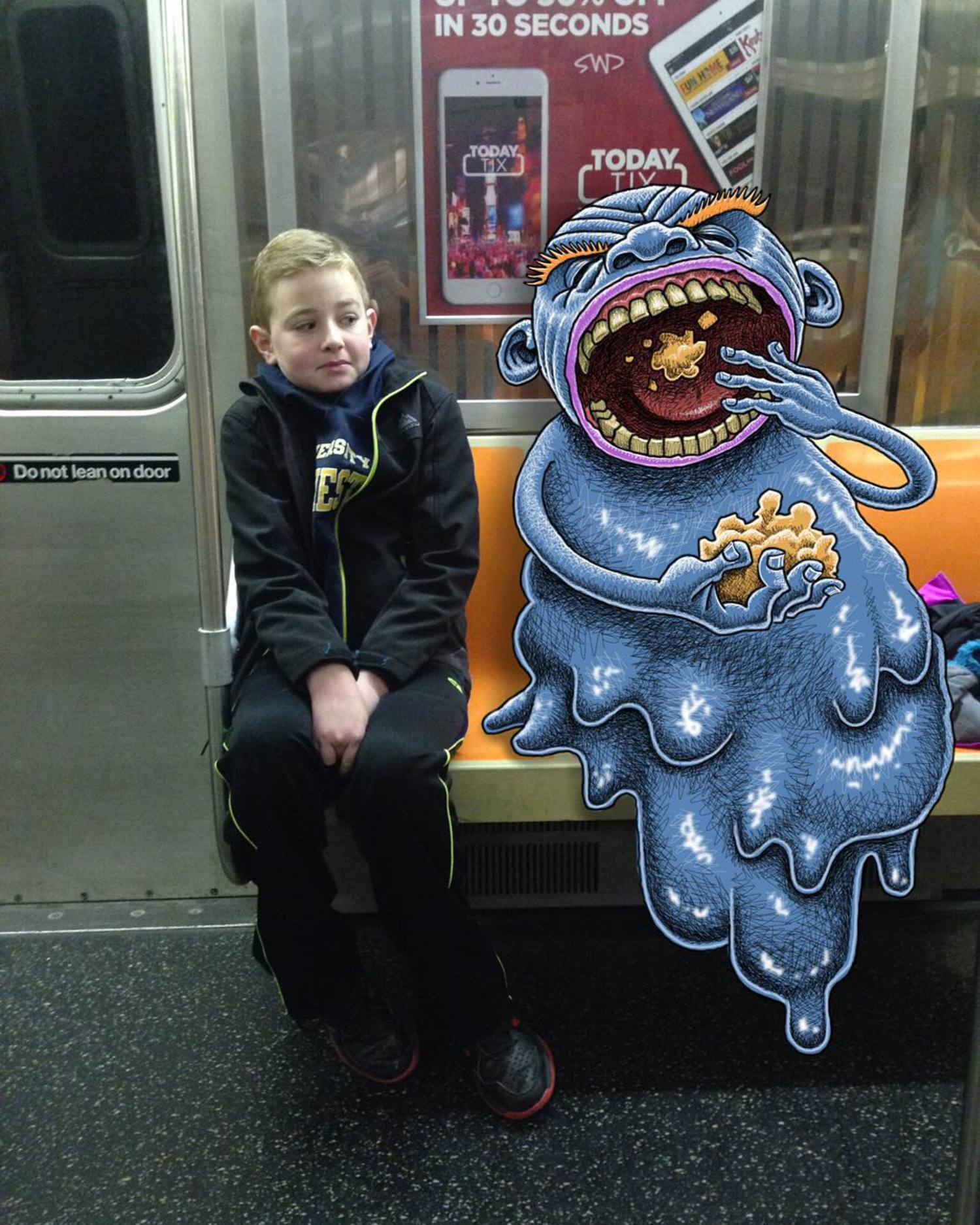 #subwaydoodle #subway #doodle #swd #nyc #ftrain #eating #eatingnyc