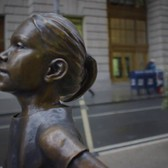 Fearless Girl Arrives