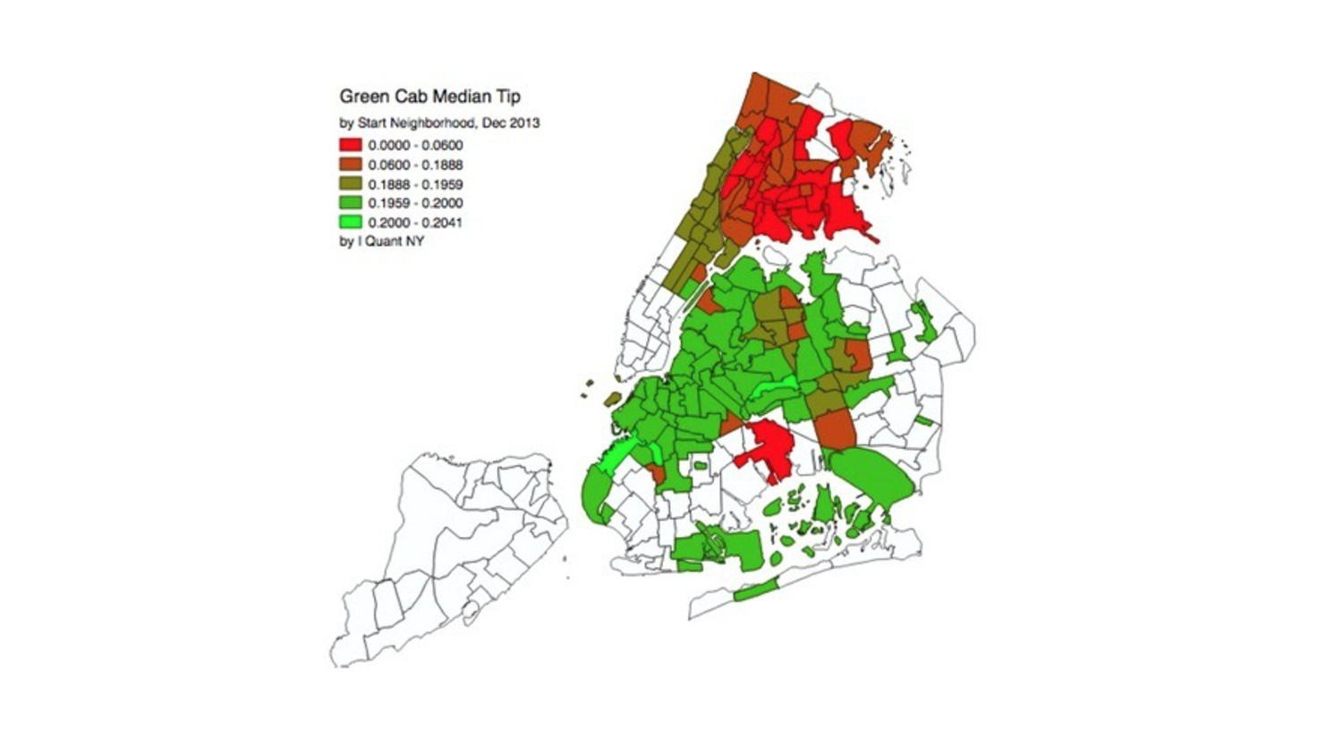 Brooklyn Leads, Bronx Lags in Green Cab Tipping Rates