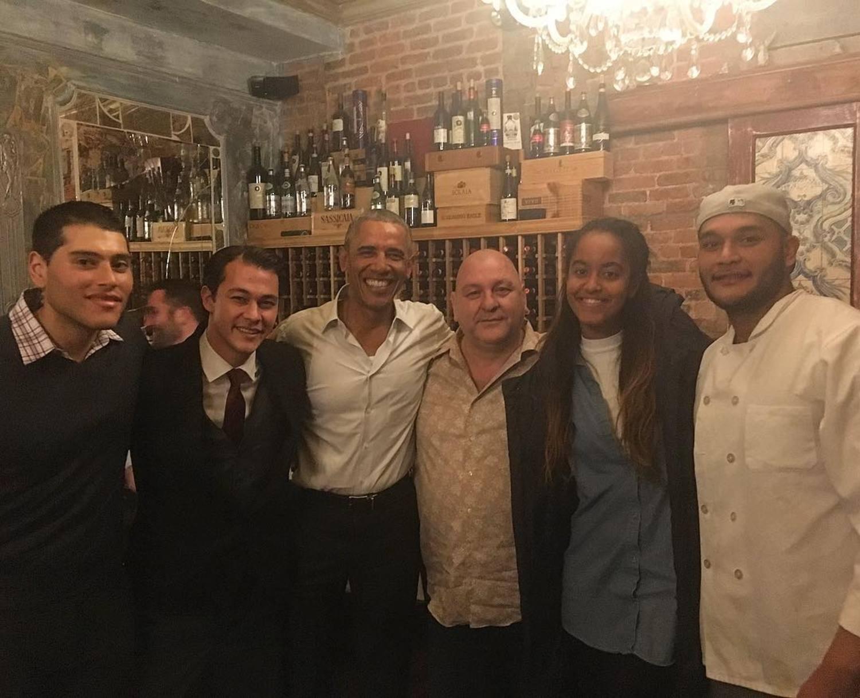 Pleasure having our former president Barack Obama at Ballatos ! #barackobama #zagatnyc #nyceats #chefsofinstagram #mangiabene #ballatosnyc #nyceats #nycdining #ballatosdoesitbest #italianfood #italianrestaurant #sohonyc #nolitanyc #littleitaly
