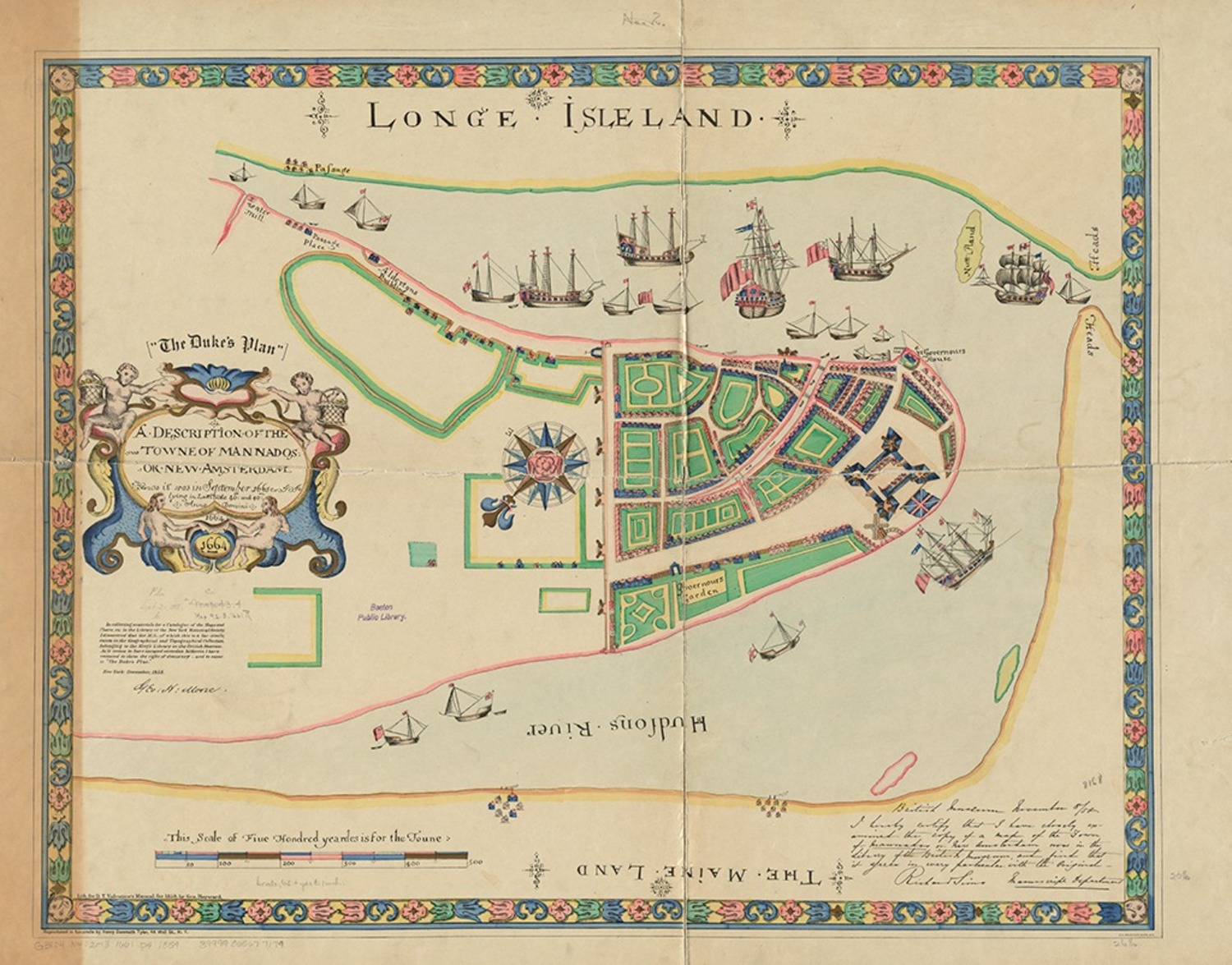 A description of the towne of Mannados or New Amsterdam, circa 1664