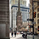 Trinity Church, Broadway, Financial District, Manhattan