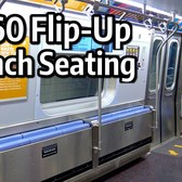 ⁴ᴷ R160 with Flip-Up Bench Seats in service on the L Line