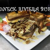 Would you eat the Redneck Riviera Burger? Includes Spam, grilled cheese sandwiches, bacon and onions