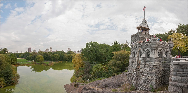 Central Park's Belvedere Castle before renovation