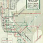 Official New York City Subway Map and Station Guide, 1958