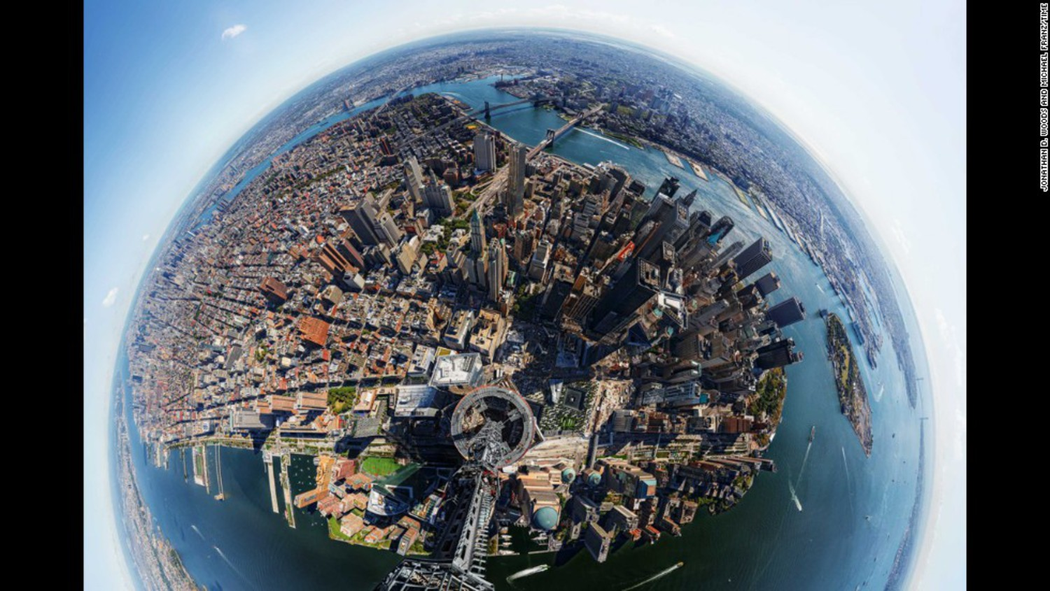 In 2013, Time magazine created this 360-degree panoramic  view from the top of One World Trade Center, the tallest building in the Western hemisphere.