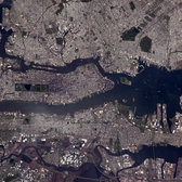 "New York | These little town blues…   Manhattan island in the middle, North is left. The rectangular Central Park very visible. Jersey City and Newark Bay to the bottom.  More about the Principia mission: <a href=""http://www.esa.int/Principia"" rel=""nofollow"">www.esa.int/Principia</a>  Credits: ESA/NASA  140B1418"