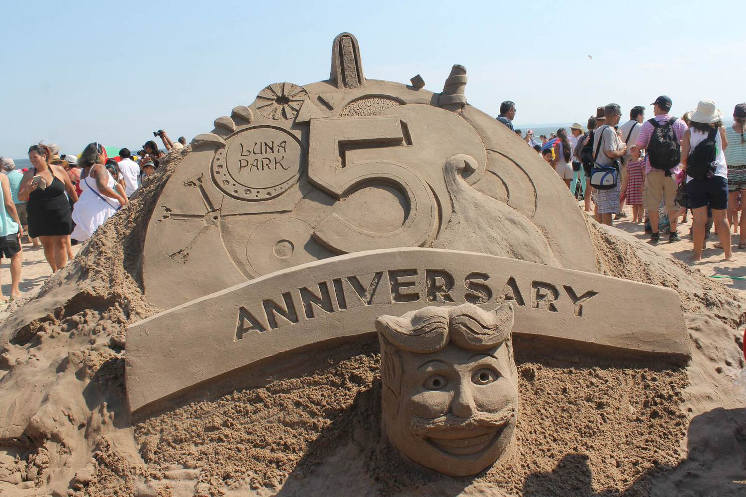 The Coney Island Sand Sculpting Contest kicked off Saturday.