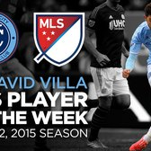 David Villa named Major League Soccer Player of the Week