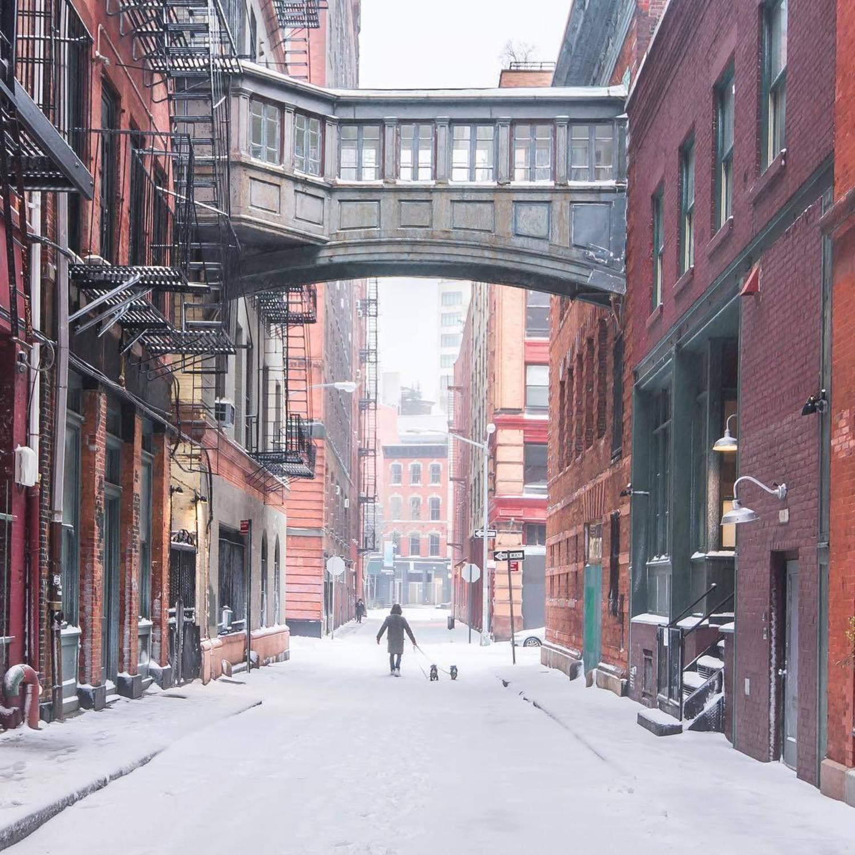 Staple Street Bridge, TriBeCa, Manhattan, New York City