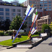 The arrow sculptures will be on display in April, for a year, in Capsouto Park.