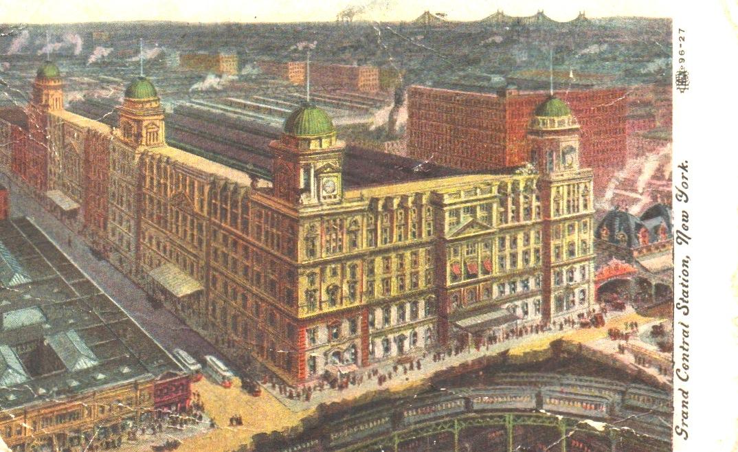 Vintage Postcard Shows Old Grand Central Terminal Circa