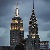 Empire State Building and Chrysler Building, Midtown, Manhattan.