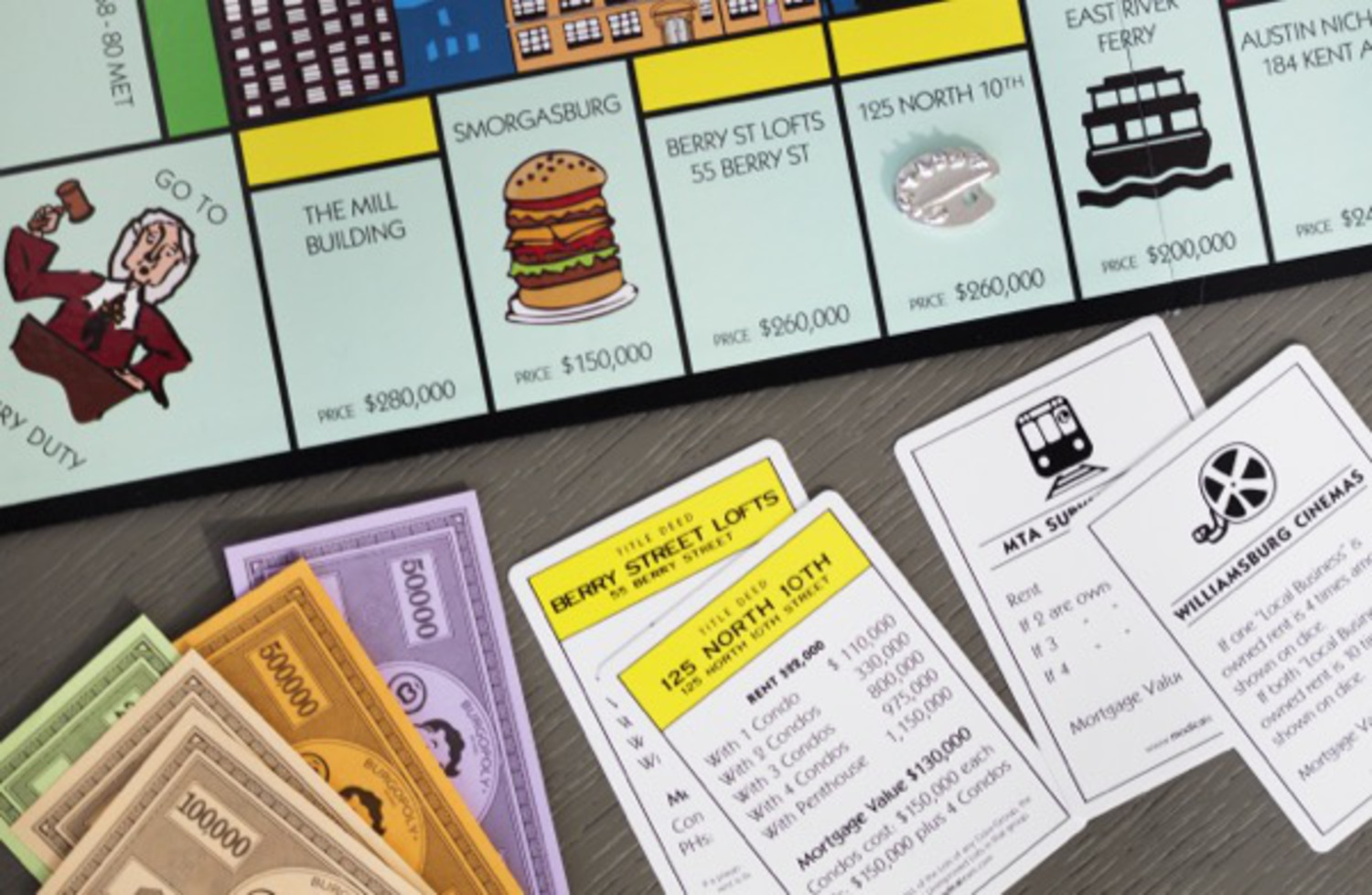 Burgopoly: The Classic Monopoly game through the eyes of Williamsburg