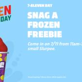 Free Slurpee Day. 7/11/2017