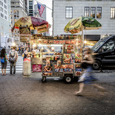 The Food Cart | These ugly food carts can be seen blocking every great camera angle throughout New York City.  Every monument, museum, and attraction is now crowded with the eyesore.
