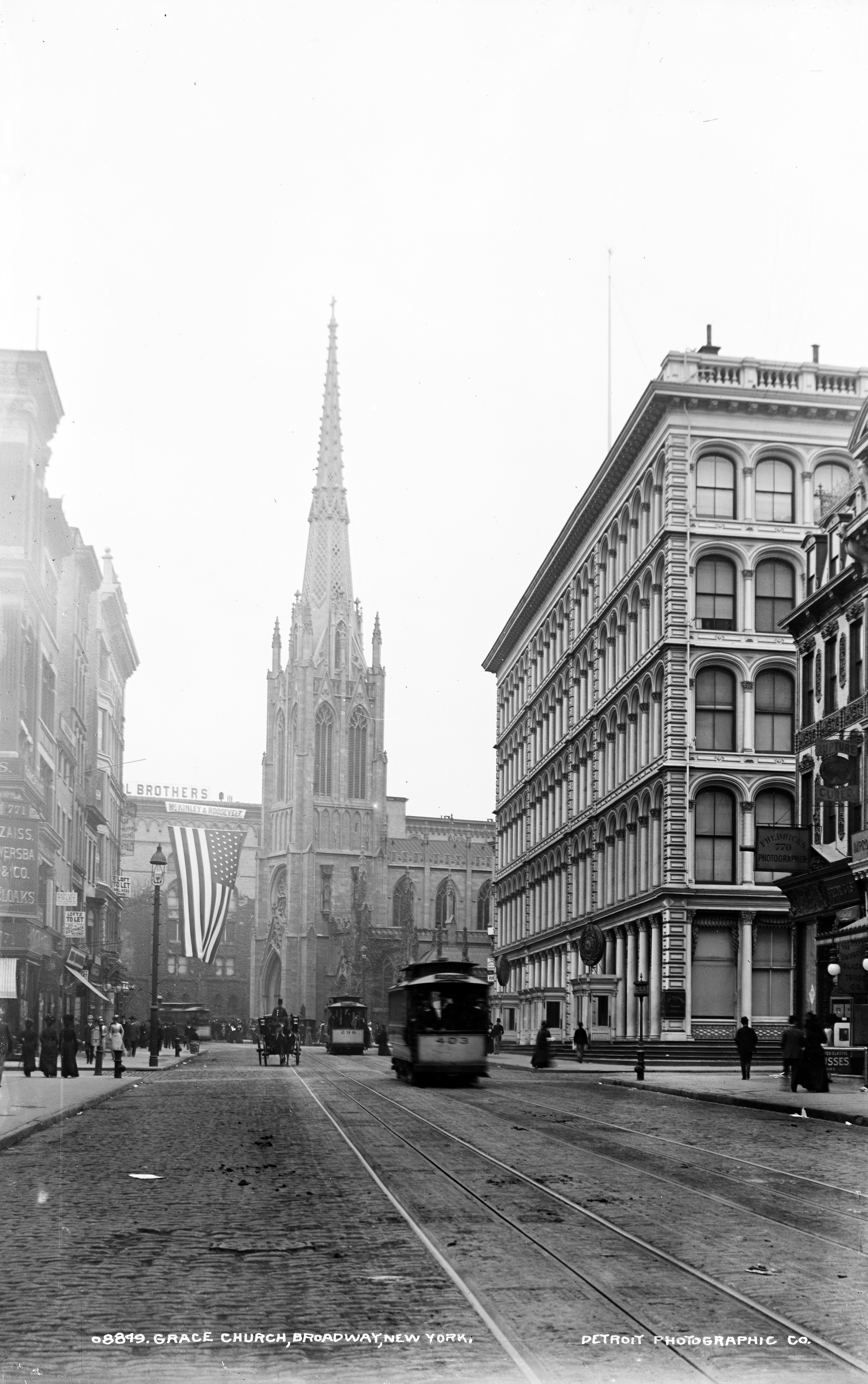 vintage photograph shows grace church in greenwich village