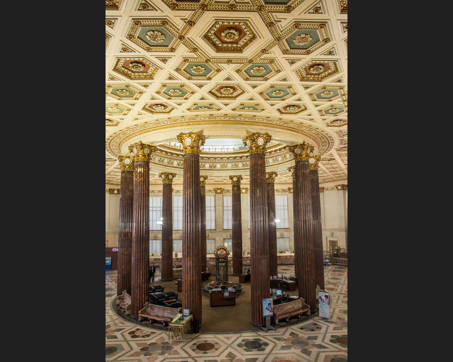 This striking 1908 interior (revised in 1918 and again in 1932) was used as a bank for over 100 years. While the design was supposed to convey stability and trustworthiness, more than anything it looks like a Liberace-inspired fever dream. In May 2015, the building was sold. Its next purpose remains to be seen.