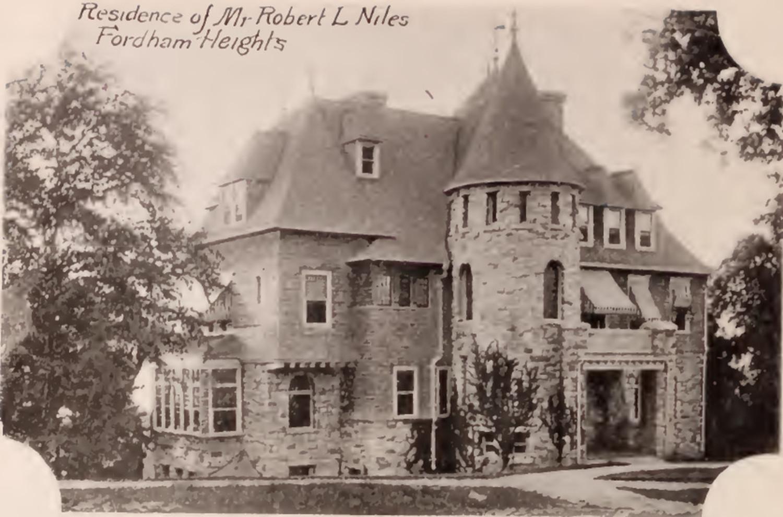 Robert Niles residence Fordham Bronx 1897