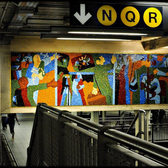 Times Square/42nd Street station glass tile mosaic
