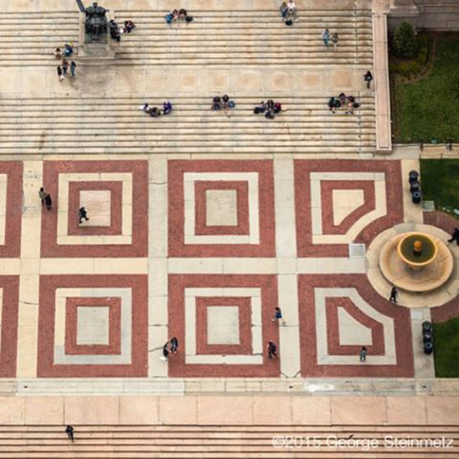 Photograph by George Steinmetz @geosteinmetz / @thephotosociety  The steps from the Low Library to College Walk are a great place to hang out at Columbia University.  The Morningside campus is the turn-of-the century masterpiece by the architectural firm McKim, Mead & White.