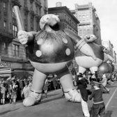 "Dec. 8, 1929: Thirty-foot-tall cartoon Katzenjammer Kids marched — or rather, floated — in the Macy's Thanksgiving Day Parade to ""an unknown destination."" The Katzenjammer Kids was a popular comic strip by Rudolph Dirks (later joined by Harold H. Knerr), who also created the spin-off strips Hans and Fritz and, eventually, The Captain and the Kids."
