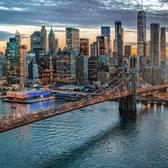 East River, Brooklyn Bridge, and Lower Manhattan
