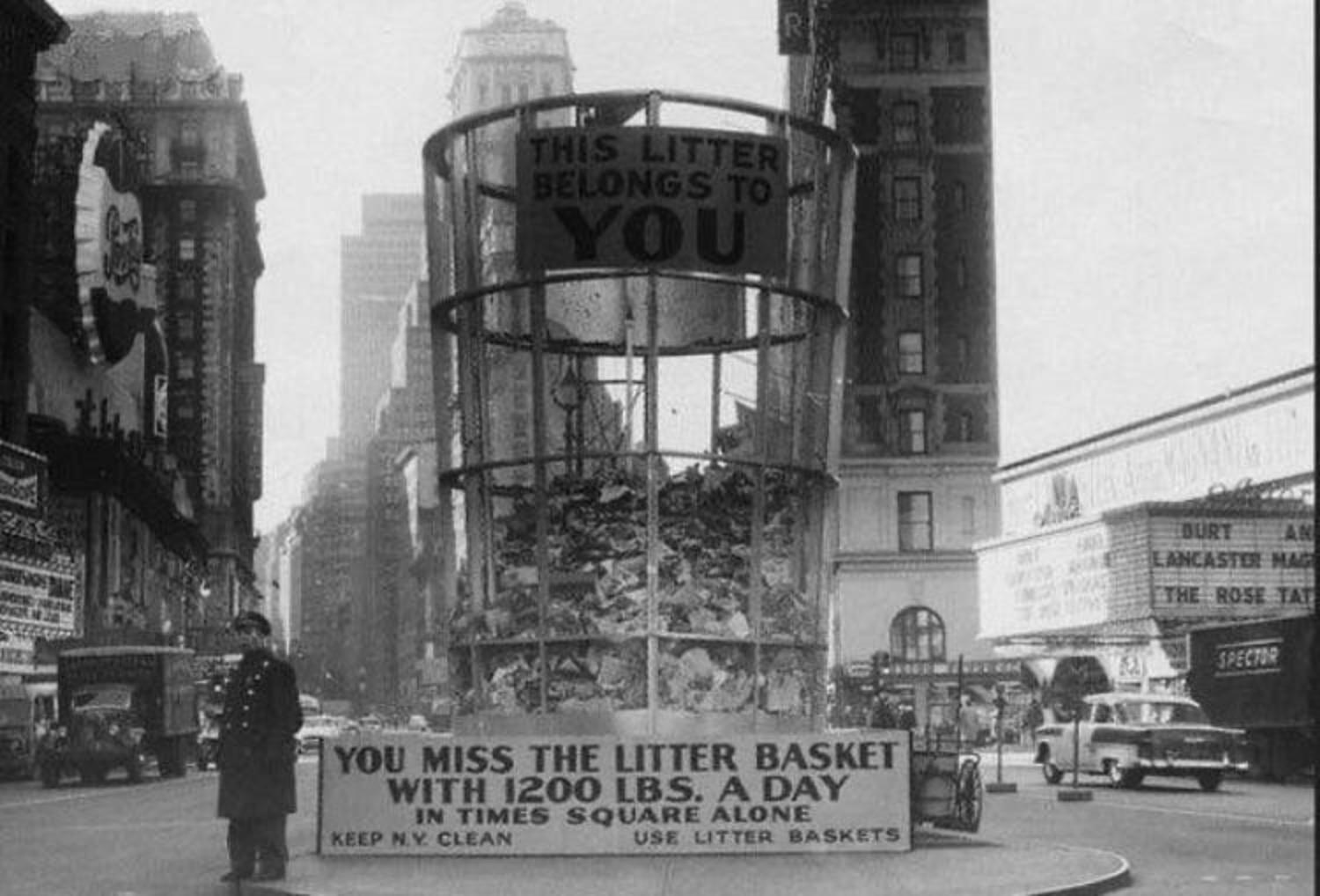 Old school public shaming in Times Square, 1955