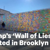 'Wall of Lies' Mural Showcases Trump's Lies | NowThis