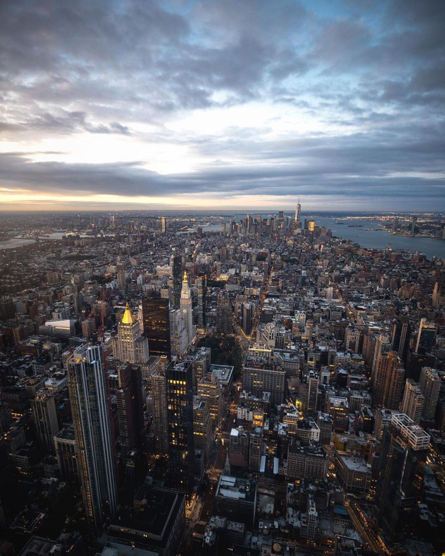 Lower Manhattan from Empire State Building 102nd Floor Observation Deck