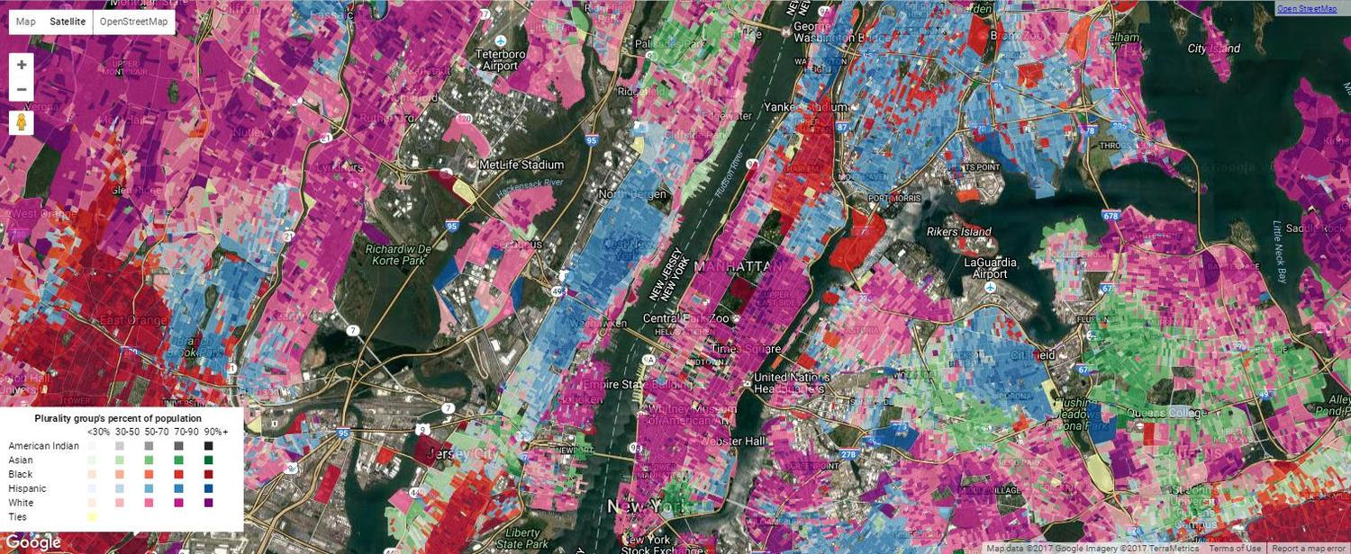 Manhattan Ethnic Density Map