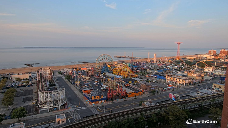 EarthCam of Coney Island (screenshot of live feed)