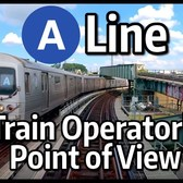 ⁴ᴷ⁶⁰ NYC Subway Train Operator's Point of View - The A Express to Rockaway Park