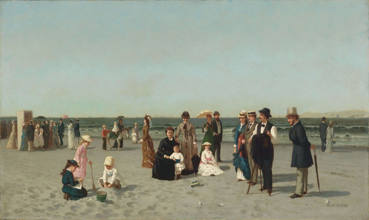 Samuel S. Carr, Beach Scene, c. 1879, oil on canvas, Smith College Museum of Art, Northampton, Massachusetts, Bequest of Annie Swan Coburn (Mrs. Lewis Larned Coburn)