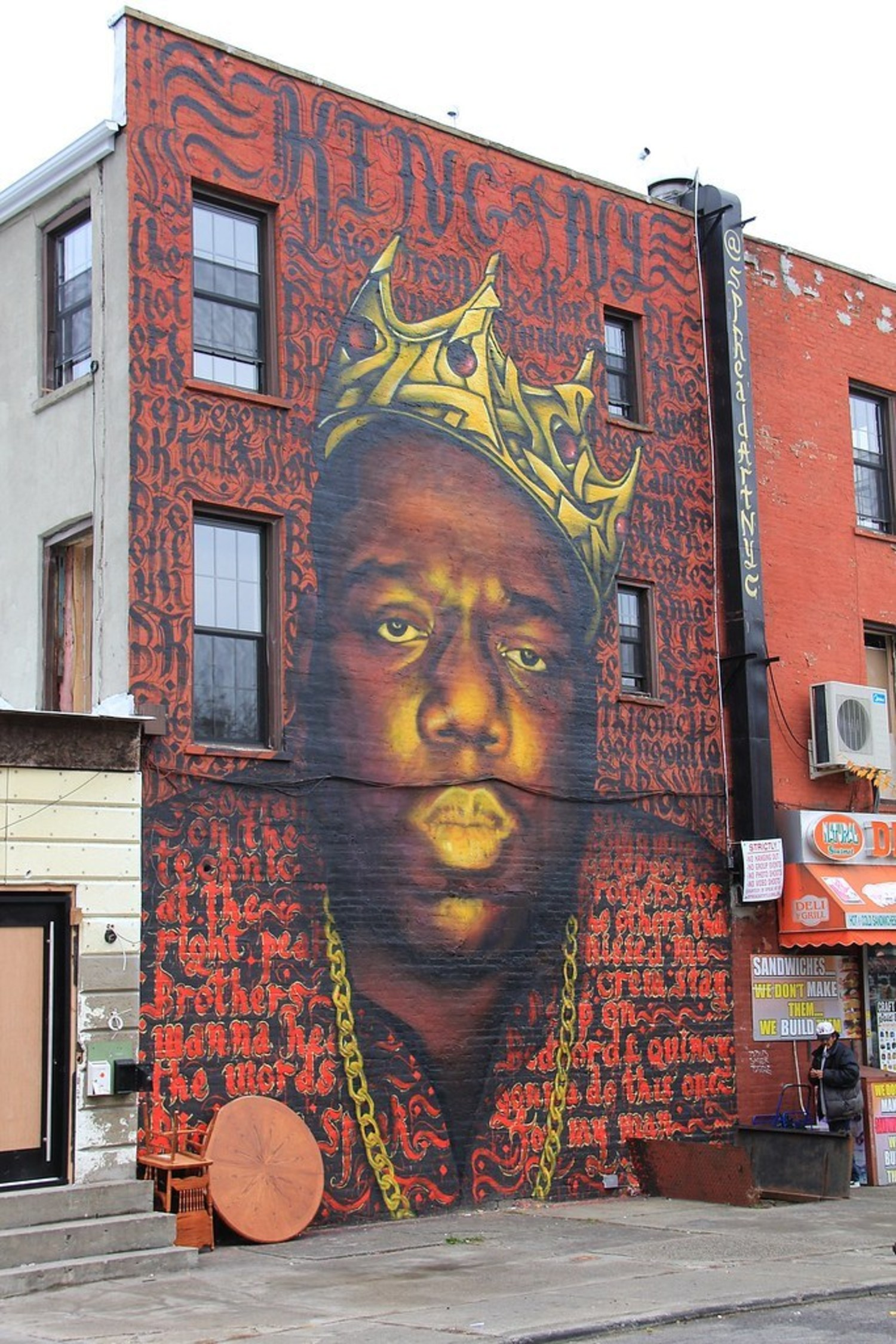 Notorious BIG mural Bedford Avenue/Quincy Street