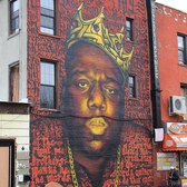 Notorious BIG mural Bedford Avenue/Quincy Street