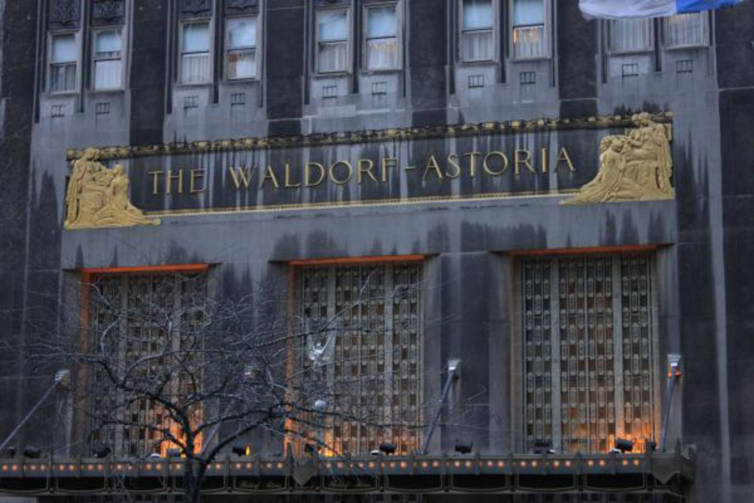 "Waldorf-Astoria Hotel: Built between 1929 and 1931, this is the second hotel to bear the Waldorf Astoria name. The first was razed to make room for the Empire State Building. The second Waldorf Astoria was designed in Art Deco style with a twin-towered skyscraper. Presidents and kings have all lived at the Waldorf Astoria in the decades since it was completed. The New York Times called it ""New York's Unofficial Palace."""