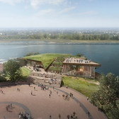 Statue of Liberty Museum's new verdant, sleek FXFOWLE design approved