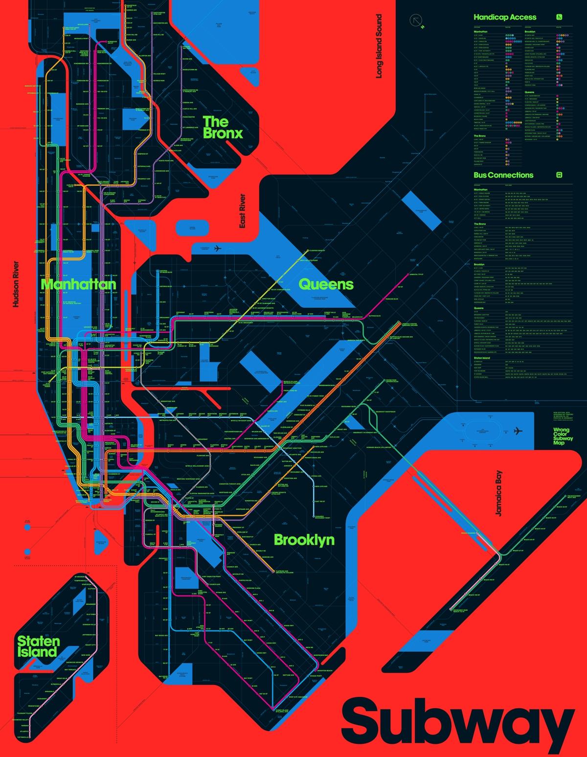 New York Subway Map Red.Wrong Color Subway Map Viewing Nyc